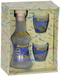 Matt carafe with 2 shots - Sitia,bottle with two glasses,mat bottle with glasses,bottle and glass,