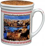 Mug with lid - Heraklion,Practical cup with lid,Practical cup with lid Theme Heraklion,