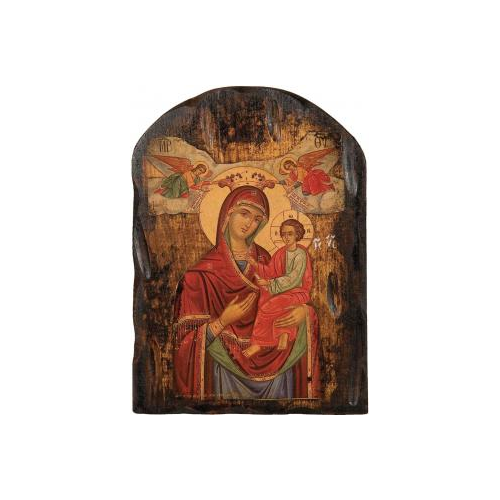 Byzantine orthodox icons,Icon hewn,Christ in the arms of Mary,Icon painting,πελεκητή εικόνα,ο Χριστός στην αγκαλιά της Παναγίας,