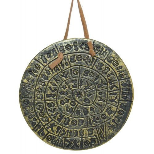 Phaistos Disk for the wall,Hanging Phaistos disk,Phaistos disk hanging for a beautiful decoration of your office wall,