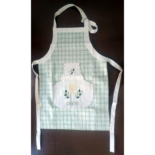 Cooking apron Crete,Durable and high quality kitchen aprons,Cooking apron with pocket embroidery,